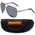 Washington Redskins Aviator Sunglasses and Sports Case