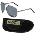 New Orleans Saints Aviator Sunglasses and Sports Case