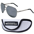 Seattle Seahawks Aviator Sunglasses and Sports Case