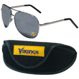 Minnesota Vikings Aviator Sunglasses and Sports Case