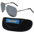 Jacksonville Jaguars Aviator Sunglasses and Sports Case
