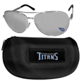 Tennessee Titans Aviator Sunglasses and Zippered Carrying Case