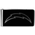Los Angeles Chargers Black and Steel Money Clip