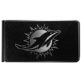 Miami Dolphins Black and Steel Money Clip