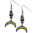 Los Angeles Chargers Euro Bead Earrings