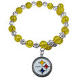 Pittsburgh Steelers Bead Memory Wire Bracelet