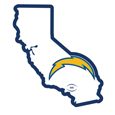 Los Angeles Chargers Home State 11 Inch Magnet