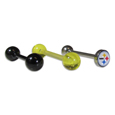 Pittsburgh Steelers 3 pk Tongue Rings