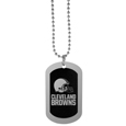 Cleveland Browns Chrome Tag Necklace