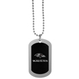 Baltimore Ravens Chrome Tag Necklace