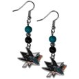 San Jose Sharks® Fan Bead Dangle Earrings
