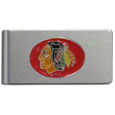 Chicago Blackhawks® Brushed Metal Money Clip