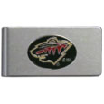 Minnesota Wild® Brushed Metal Money Clip