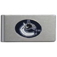 Vancouver Canucks® Brushed Metal Money Clip