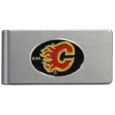 Calgary Flames® Brushed Metal Money Clip