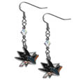 San Jose Sharks® Crystal Dangle Earrings