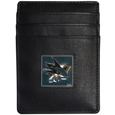 San Jose Sharks® Leather Money Clip/Cardholder