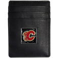 Calgary Flames® Leather Money Clip/Cardholder