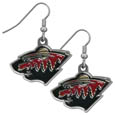Minnesota Wild® Chrome Dangle Earrings