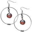New York Islanders® 2 Inch Hoop Earrings