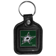 Dallas Stars™ Square Leatherette Key Chain