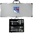 New York Rangers® 8 pc Stainless Steel BBQ Set w/Metal Case