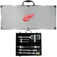Detroit Red Wings® 8 pc Stainless Steel BBQ Set w/Metal Case