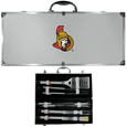 Ottawa Senators® 8 pc Stainless Steel BBQ Set w/Metal Case