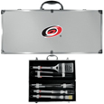 Carolina Hurricanes® 8 pc Stainless Steel BBQ Set w/Metal Case