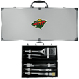 Minnesota Wild® 8 pc Stainless Steel BBQ Set w/Metal Case