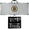 Boston Bruins® 8 pc Stainless Steel BBQ Set w/Metal Case