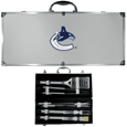 Vancouver Canucks® 8 pc Stainless Steel BBQ Set w/Metal Case