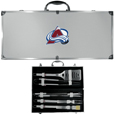 Colorado Avalanche® 8 pc Stainless Steel BBQ Set w/Metal Case