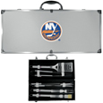 New York Islanders® 8 pc Stainless Steel BBQ Set w/Metal Case