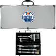 Edmonton Oilers® 8 pc Stainless Steel BBQ Set w/Metal Case