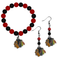 Chicago Blackhawks® Fan Bead Earrings and Bracelet Set