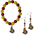 Ottawa Senators® Fan Bead Earrings and Bracelet Set