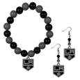 Los Angeles Kings® Fan Bead Earrings and Bracelet Set