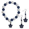 Toronto Maple Leafs® Fan Bead Earrings and Bracelet Set