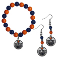 Edmonton Oilers® Fan Bead Earrings and Bracelet Set