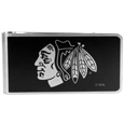 Chicago Blackhawks® Black and Steel Money Clip