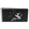 San Jose Sharks® Black and Steel Money Clip