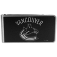 Vancouver Canucks® Black and Steel Money Clip
