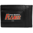 Calgary Flames® Logo Leather Cash and Cardholder