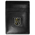 Vegas Golden Knights® Leather Money Clip/Cardholder Packaged in Gift Box