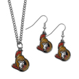 Ottawa Senators® Dangle Earrings and Chain Necklace Set