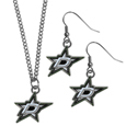 Dallas Stars™ Dangle Earrings and Chain Necklace Set