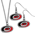 Carolina Hurricanes® Dangle Earrings and Chain Necklace Set