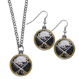 Buffalo Sabres® Dangle Earrings and Chain Necklace Set