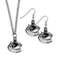 Vancouver Canucks® Dangle Earrings and Chain Necklace Set